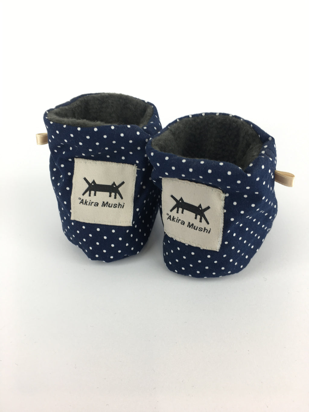 BABY SHOES * NAVY POLKA