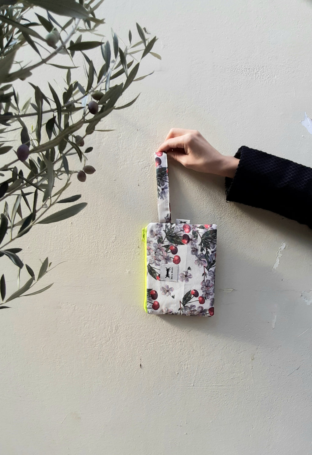 Waterproof Pouch Medium in Cherry Blossoms