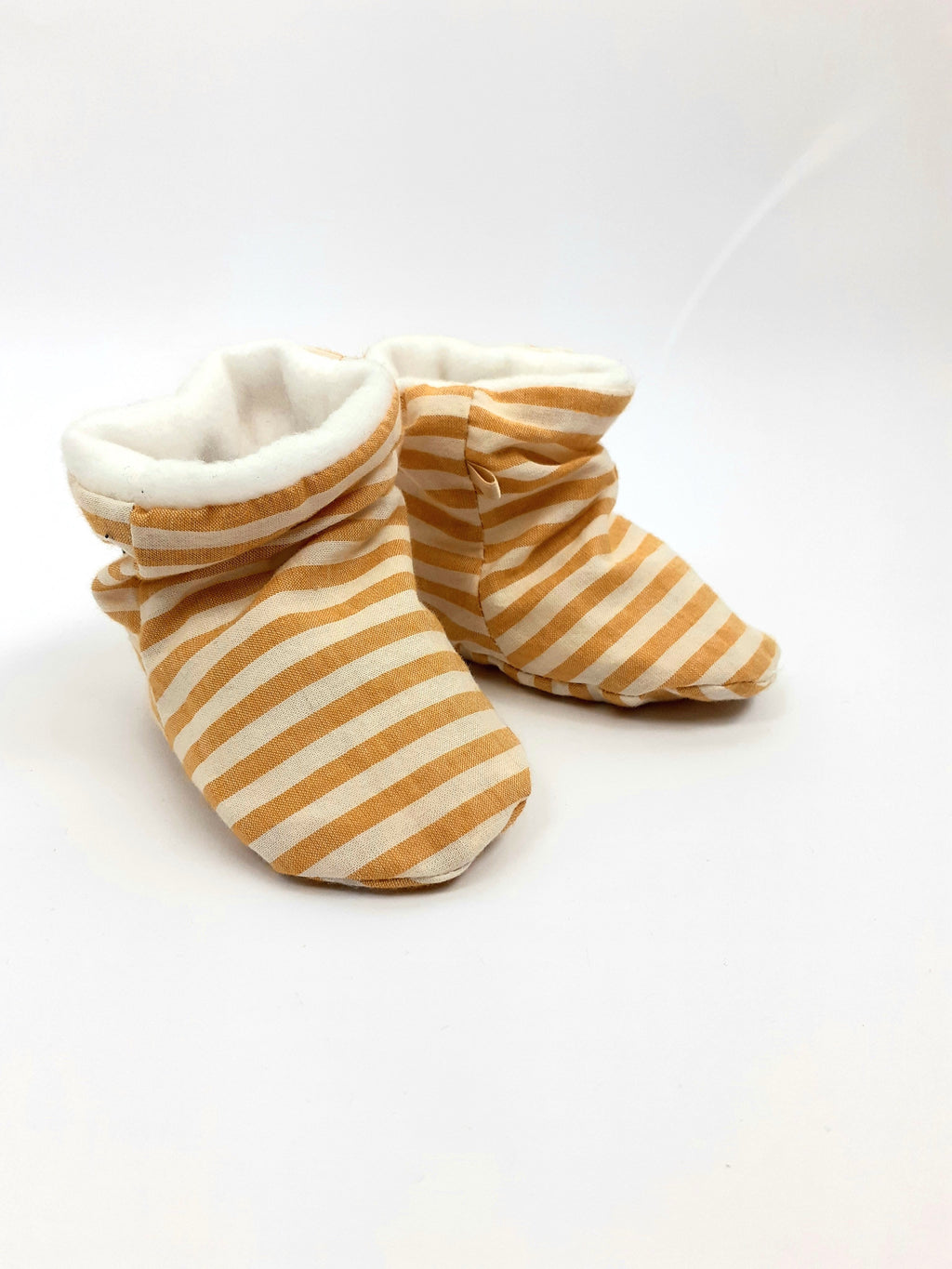 BABY SHOES * YELLOW STRIPES