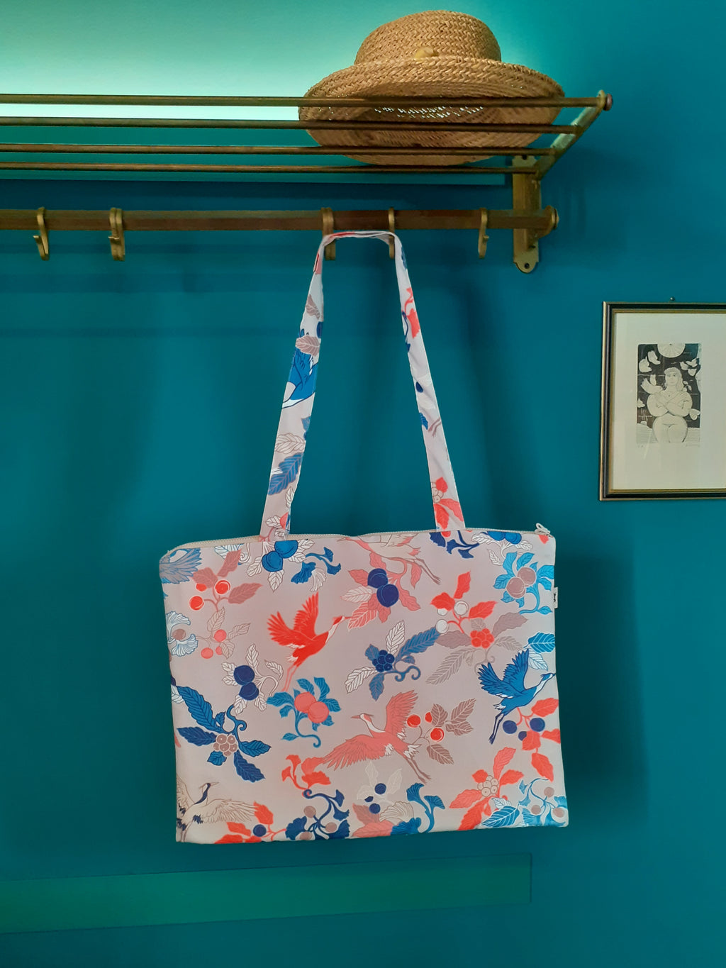 WATERPROOF SHOULDER BAG* JAPANESE PRINTS