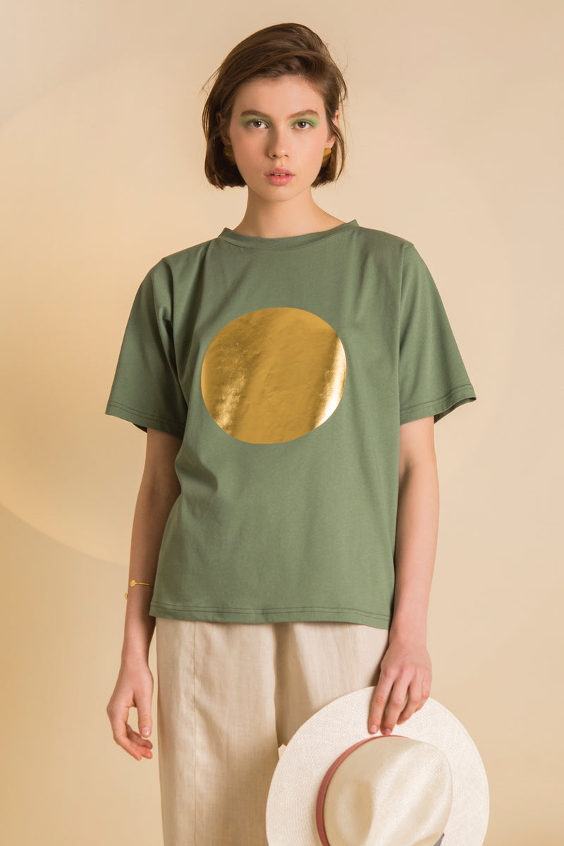T-Shirt Long Golden Sun Colors