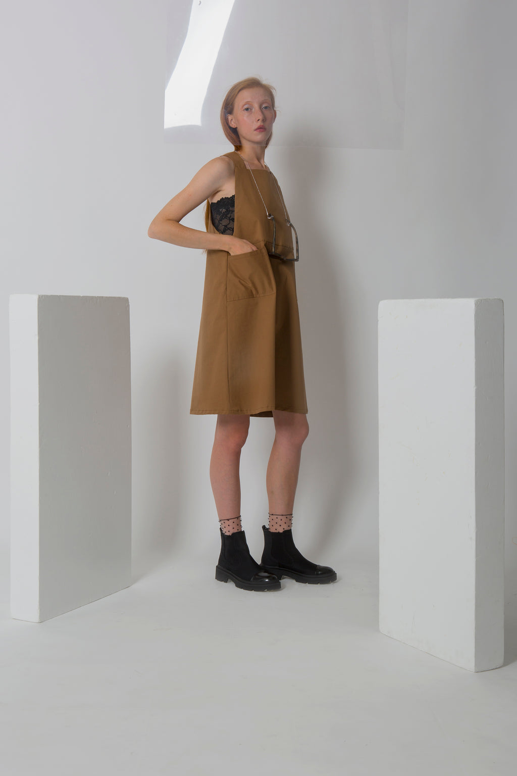 Dress Saya in Cotton Gabardine Colors