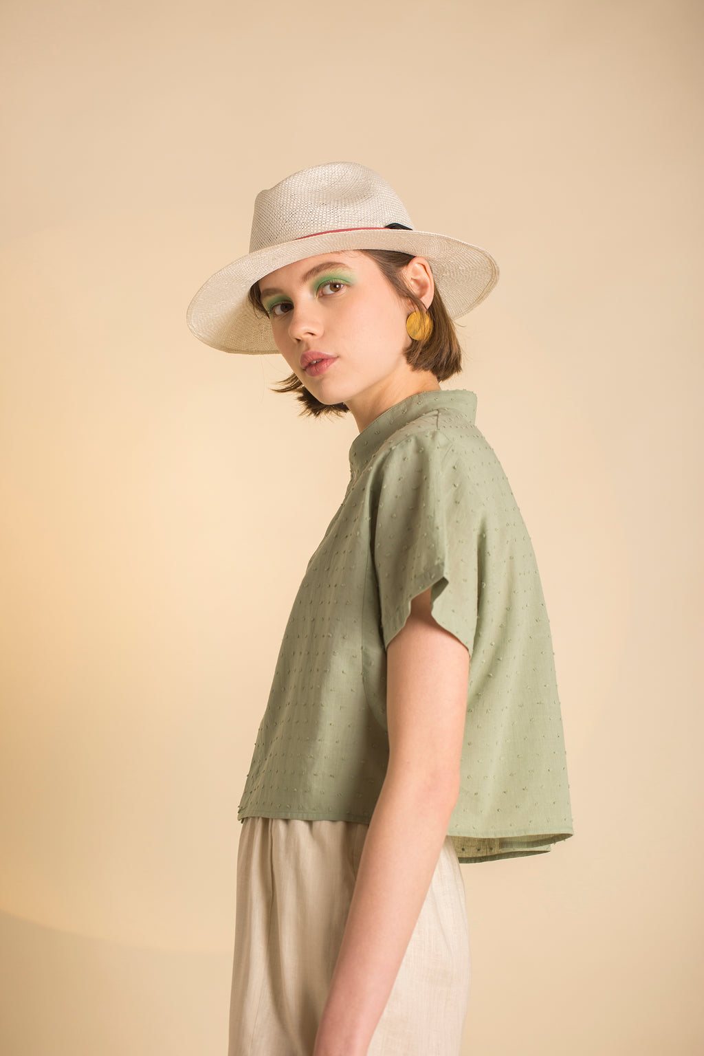Shirt Dori in Cotton Poplin Plumenti Colors