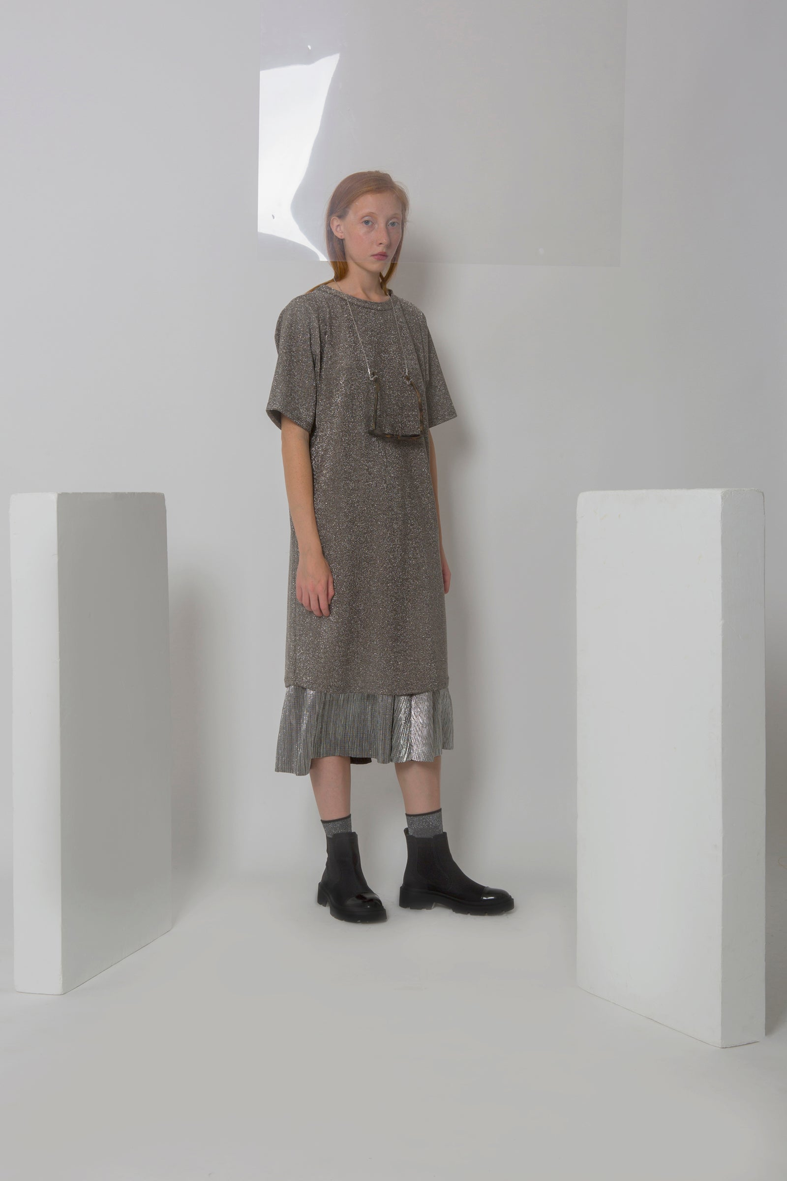 T-Shirt Dress  Sanda in Sparkly Jersey Colors