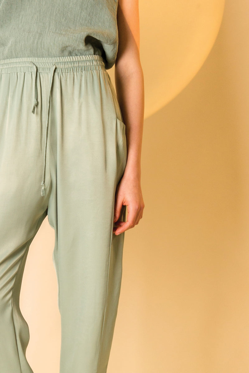 Pants Tada in Viscose Satin Crepe Colors