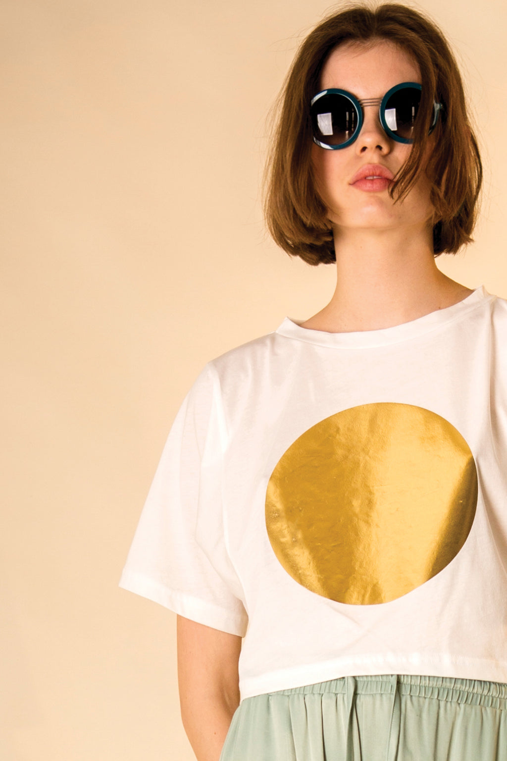 T-SHIRT CROPPED * GOLDEN SUN COLOURS