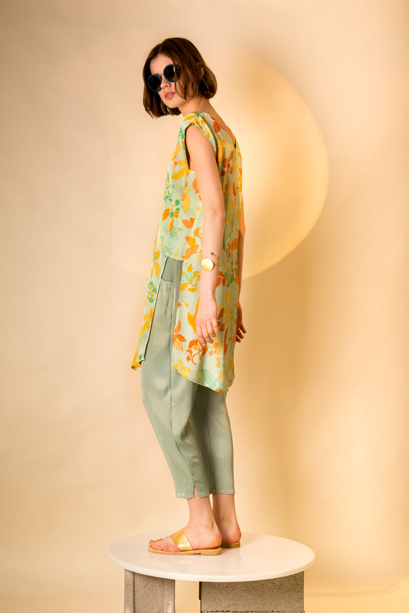Top Nori in Satin Viscose AM Japanese Print