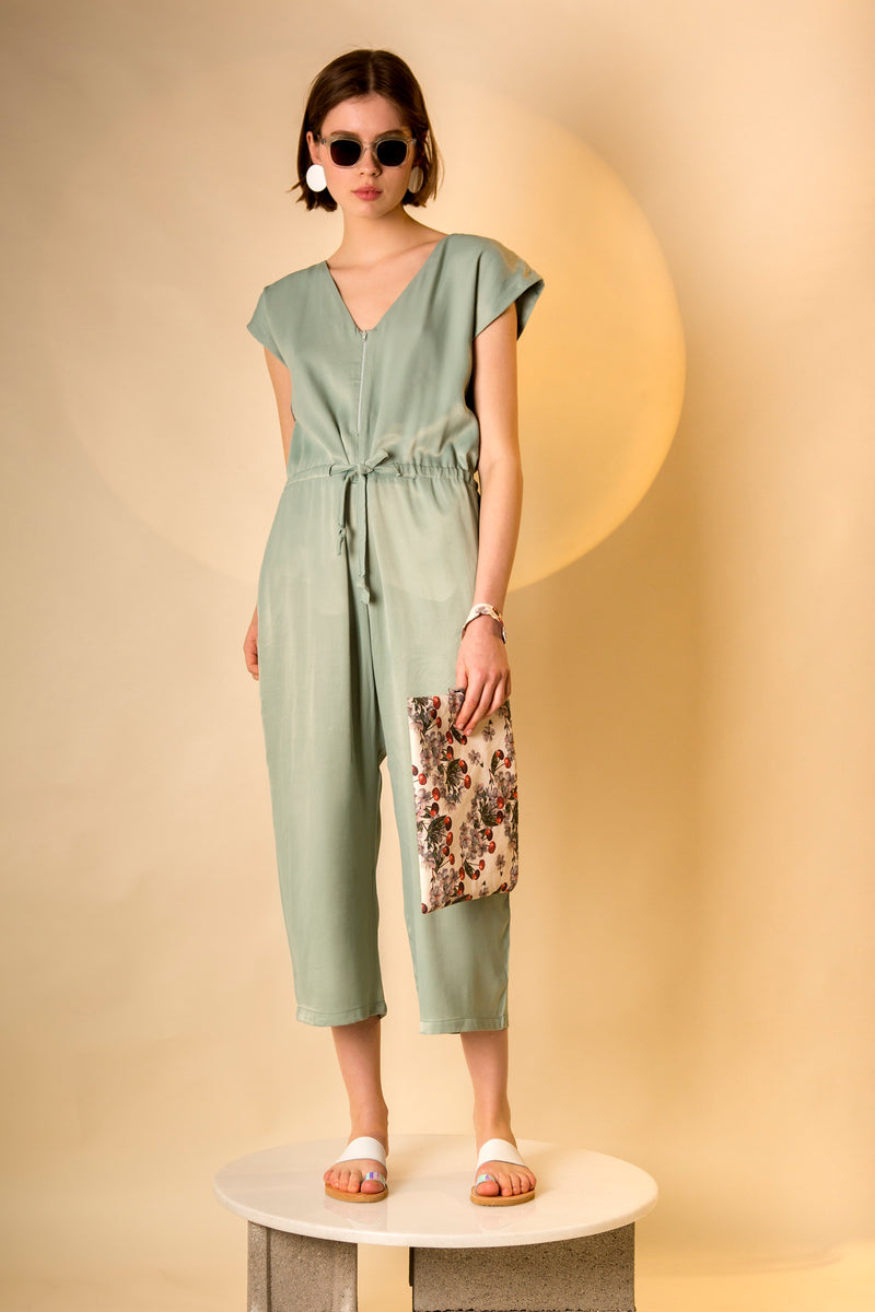 Jumpsuit Kyuwa in Viscose Satin Crepe Colors