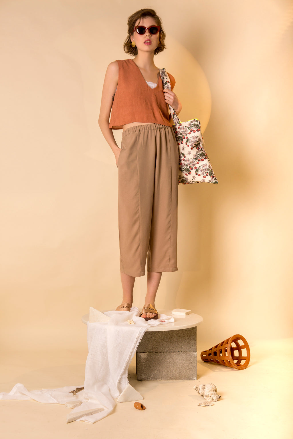 Pants Goto in Tencel Gabardine Colors