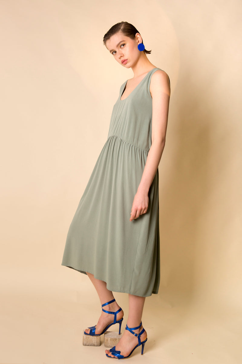 Dress Nara in Viscose Crepe Colors