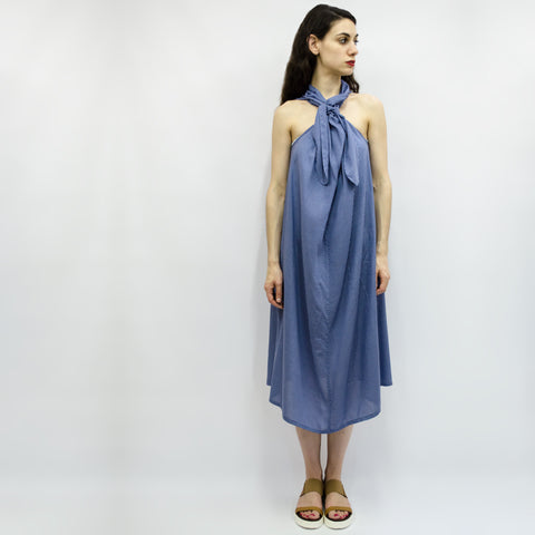 Dress Carioca in Aegean Blue Polka Dots Viscose