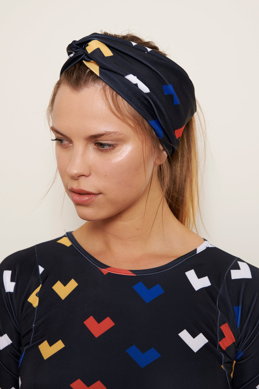 Head Band Miu Hearts Print