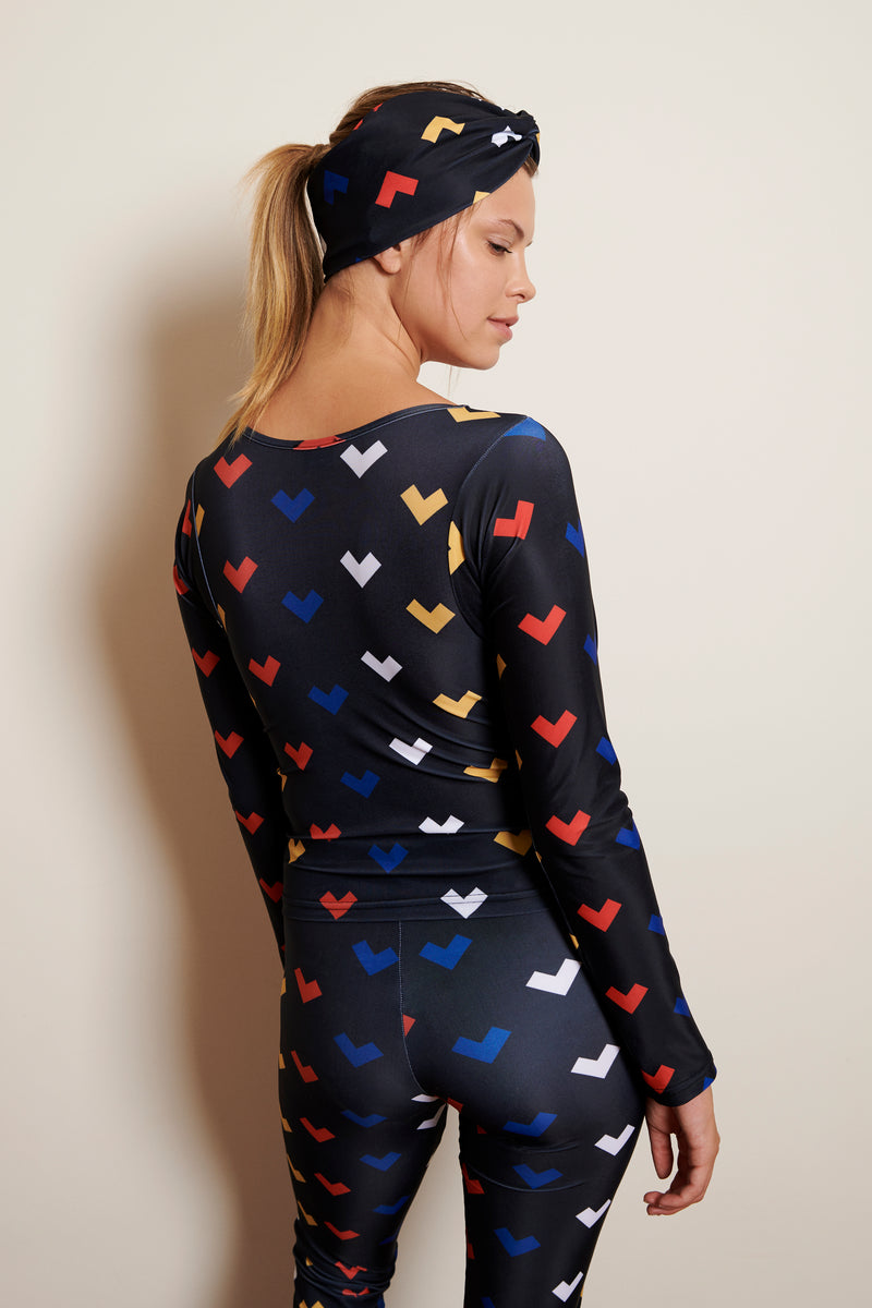 Top Hayate with Akira Mushi Hearts Print
