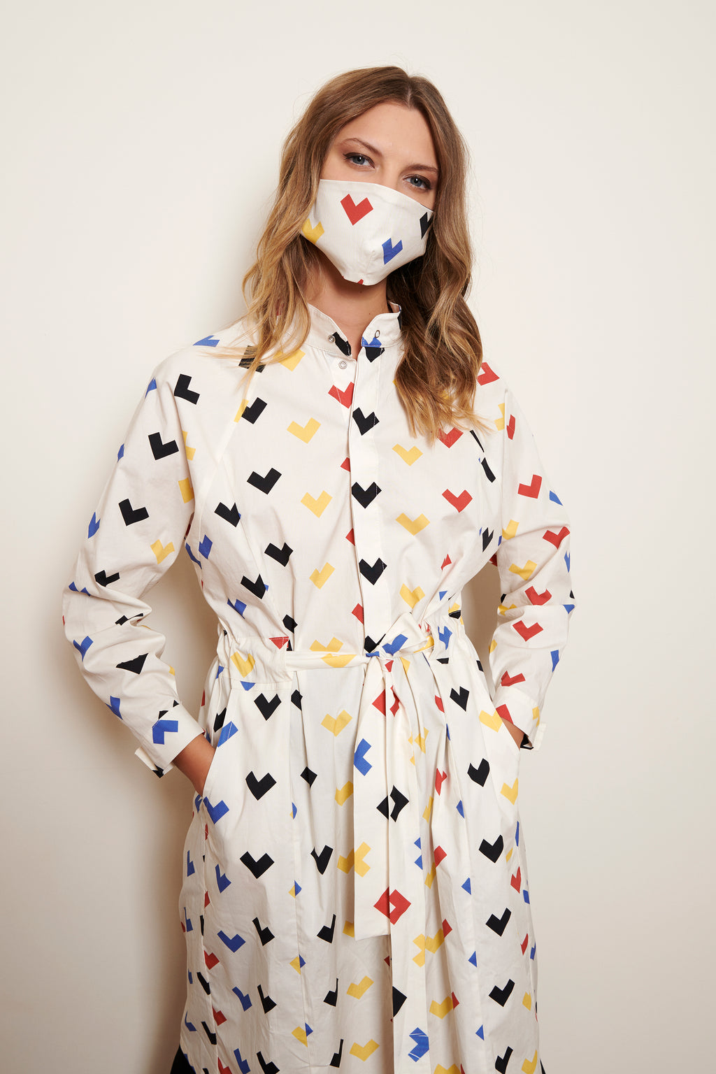 FACE MASK WOMEN * HEARTS PRINT