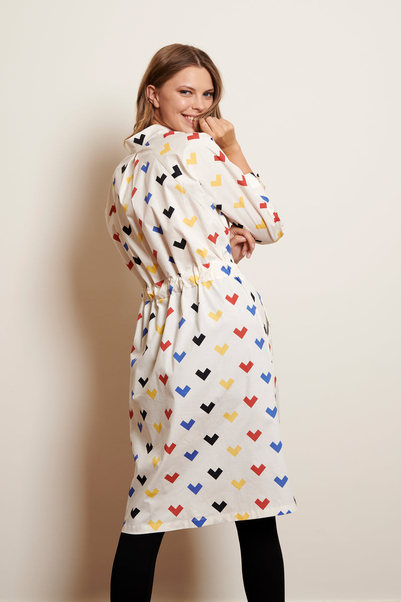SHIRT DRESS ISA * HEARTS PRINT