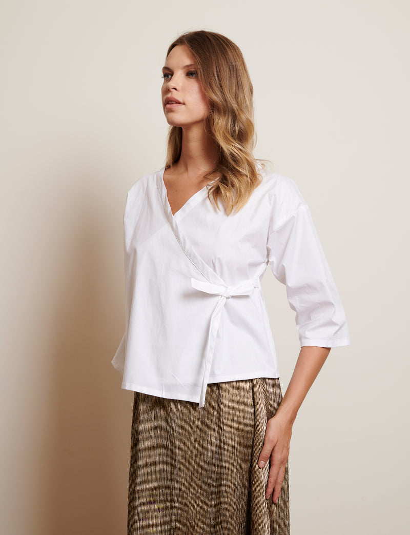 SUKI top in cotton poplin