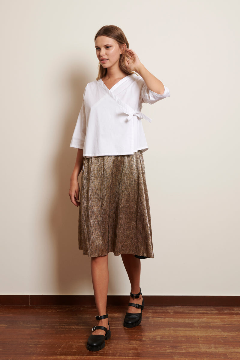 Skirt Yuni in Pleated Foil