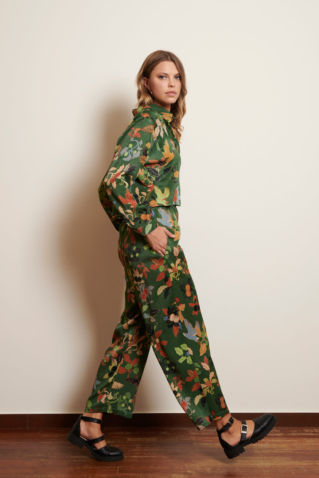 Goto Pants in Japanese Akira Mushi Print