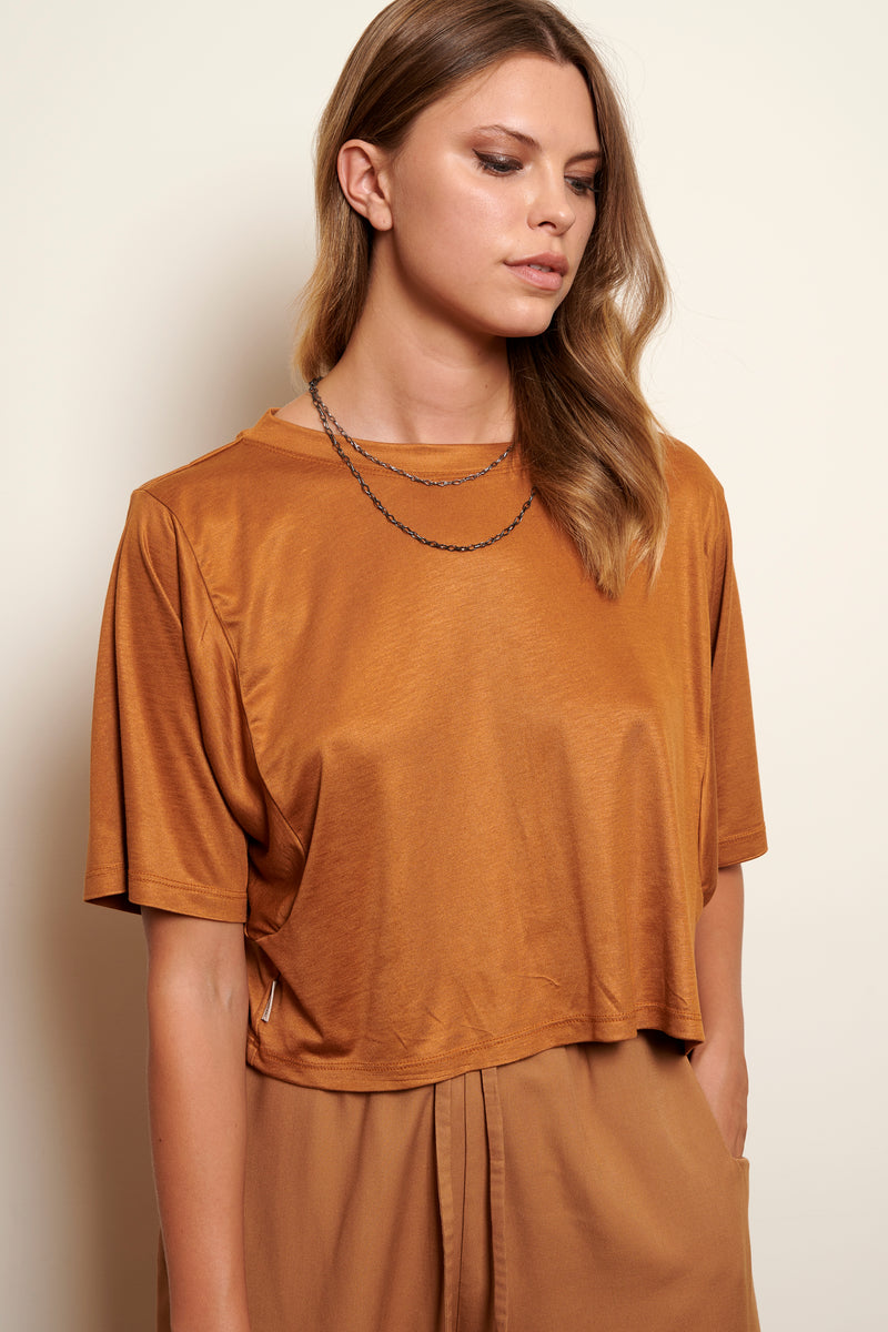 TSHIRT CROPPED YURI * SUPERSOFT VISCOSE COLOURS