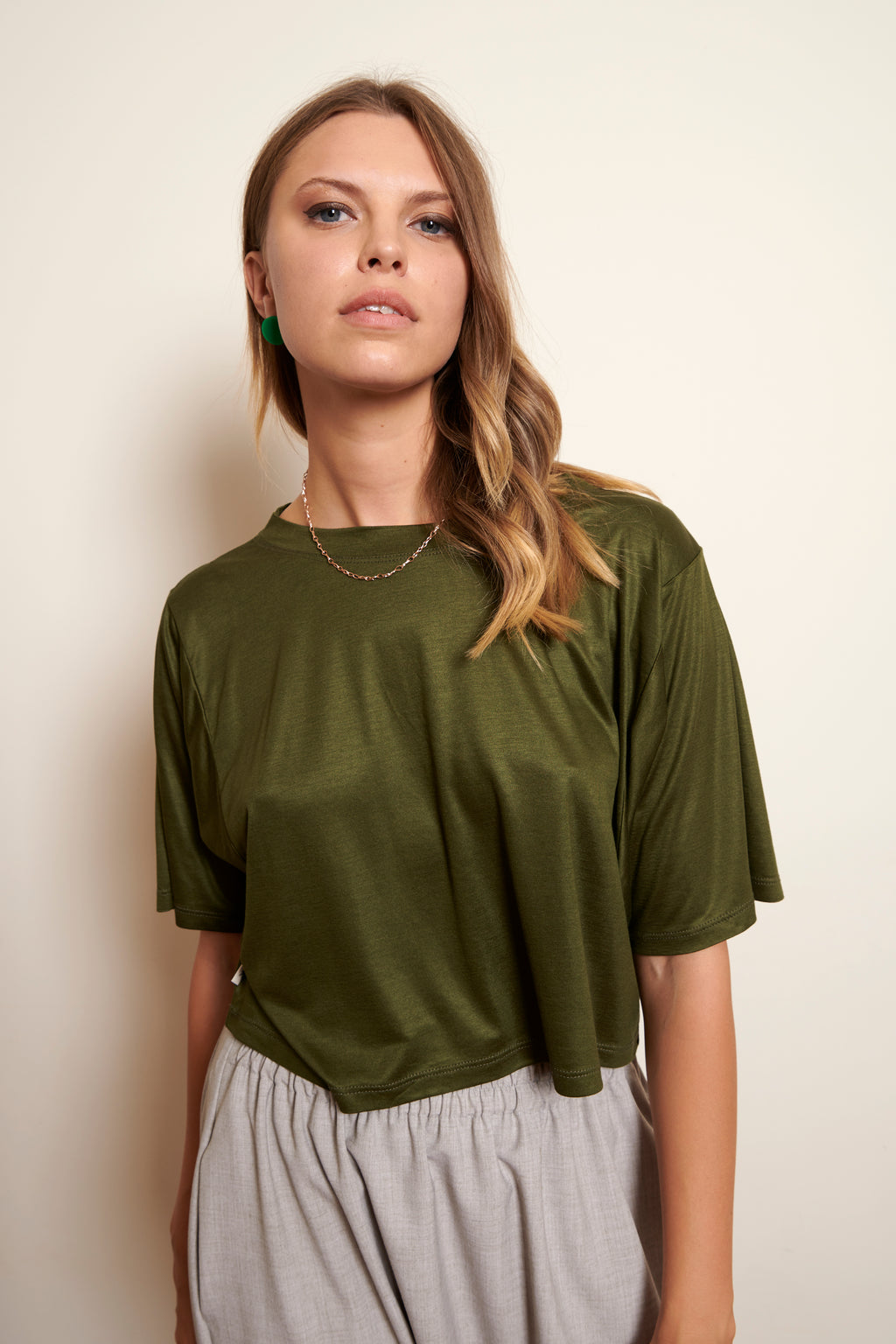 T SHIRT CROPPED YURI * SUPERSOFT VISCOSE COLOURS