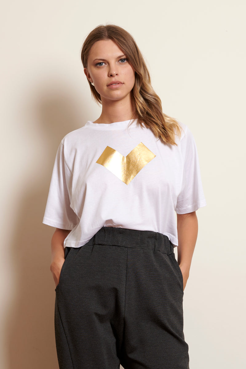 T-Shirt Cropped AM Golden Heart