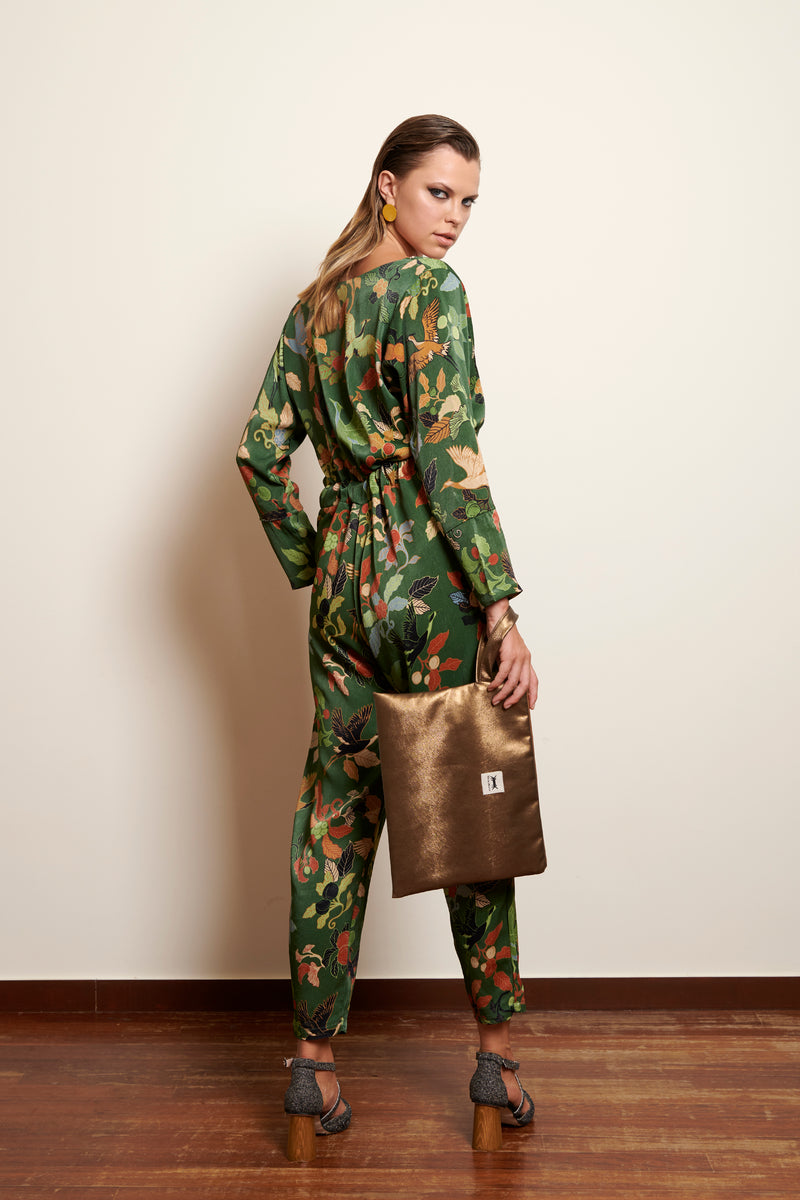 JUMPSUIT MIHARA * AM JAPANESE PRINT
