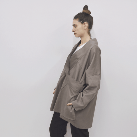 Jacket Chuco in Cotton Velvet-like Gabardine