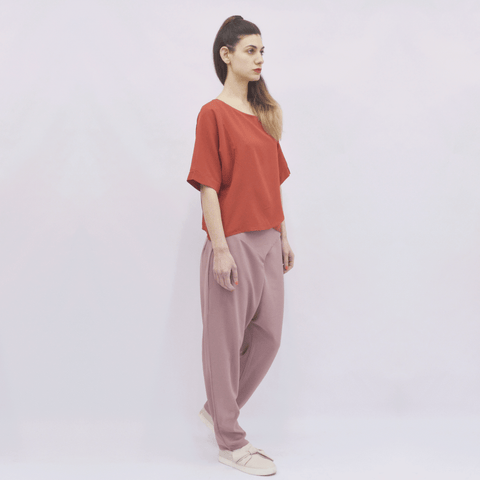 Trousers Elapse in Crepe