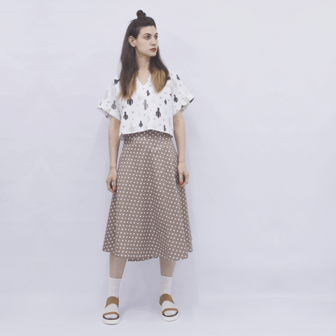 Skirt Milo in Cotton Poplin Polka Dots