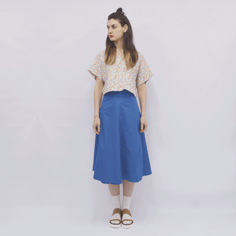 Skirt Milo in Cotton Poplin Colors