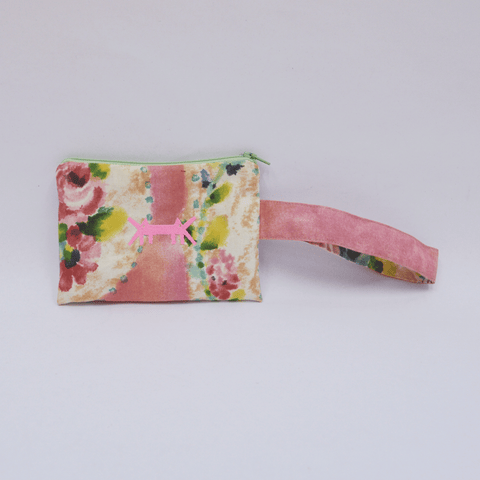 Pouch Mini in Coral Floral
