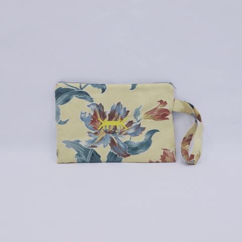 Pouch Big in Beige Floral