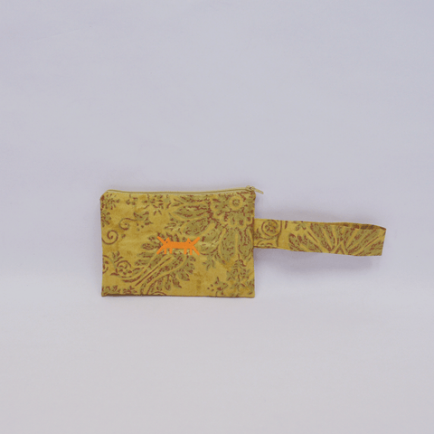 Pouch Midi in Yellow Brocade