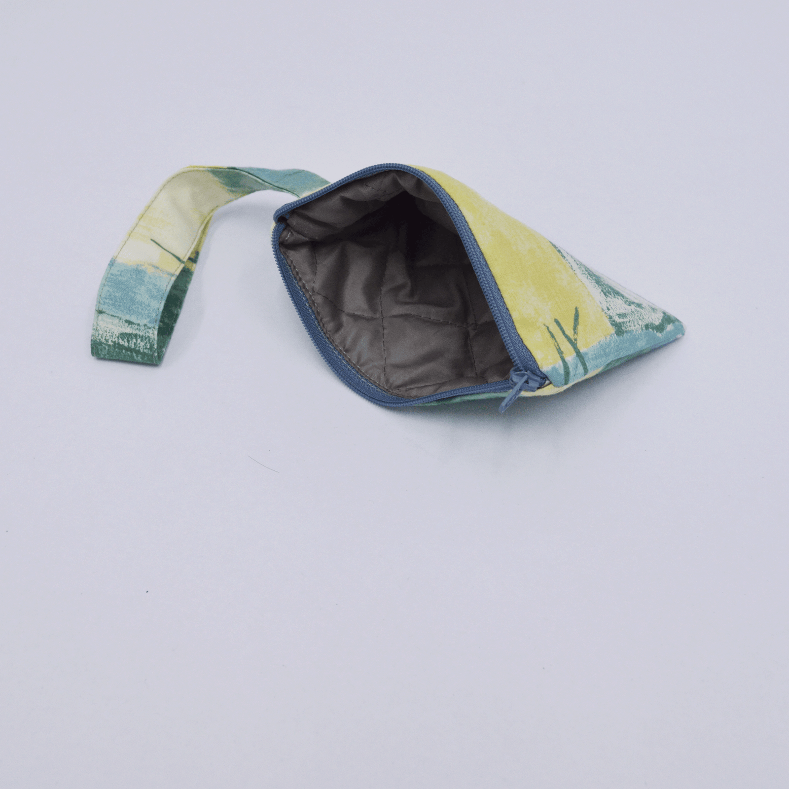 Pouch Mini in Green-Yellow Abstract Print
