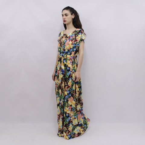 Maxi Dress Hina in Tropical Floral Viscose