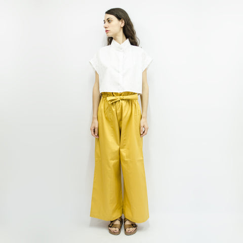 Cropped Shirt Cecile in Crepe