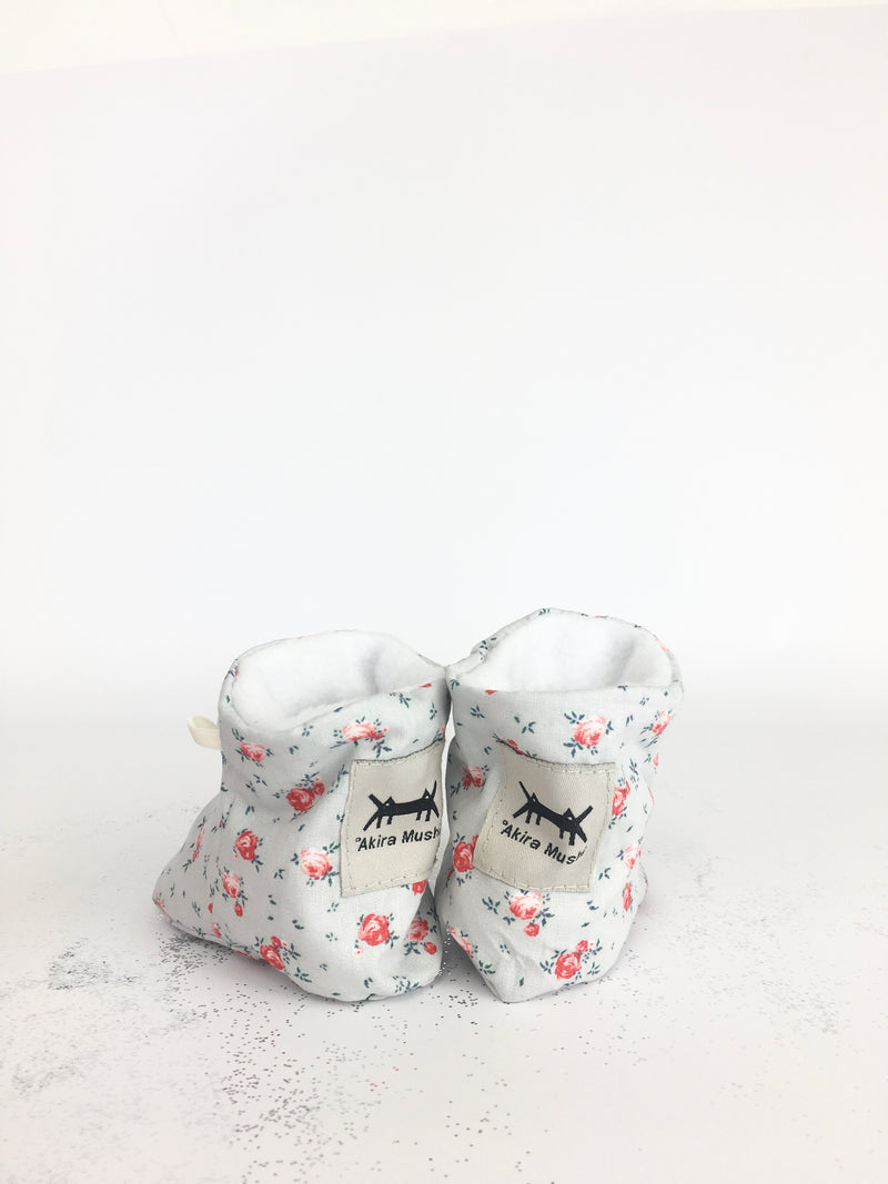 BABY SHOES * GREY FLORAL