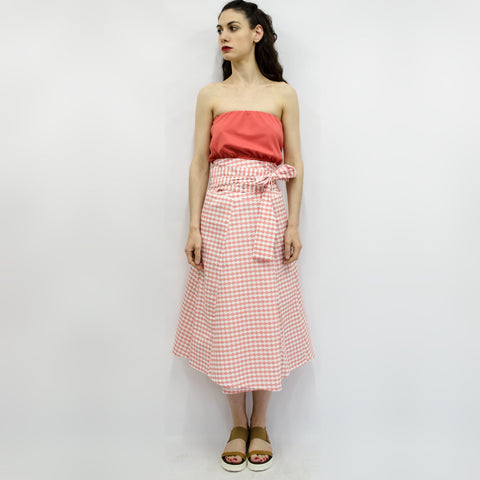 Skirt Ichiro in Coral Pink Cloudy Pattern