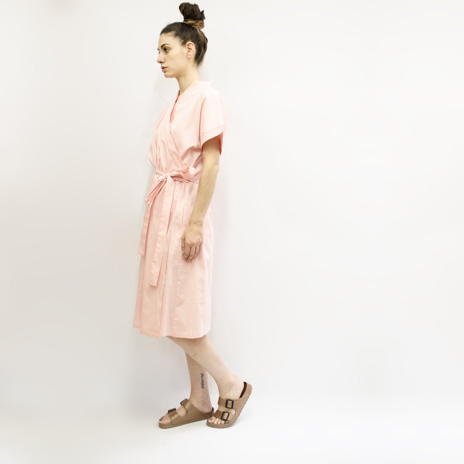 Dress Kimono in Cotton Poplin Colors