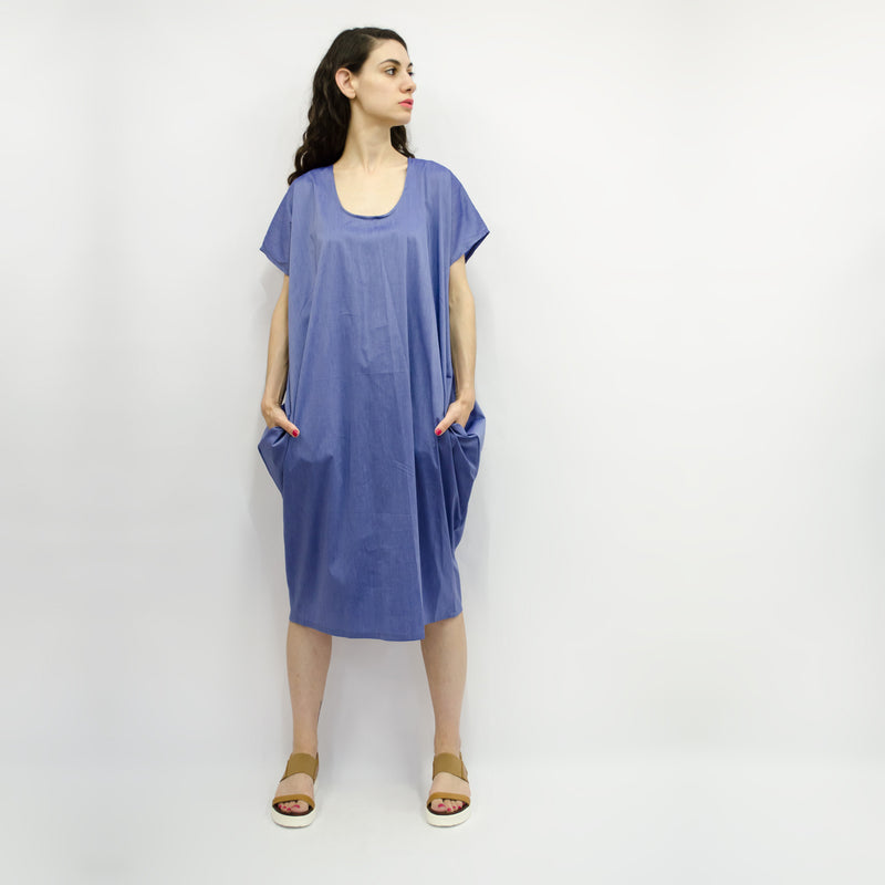 Dress Love Pocket in Cotton Poplin Colors