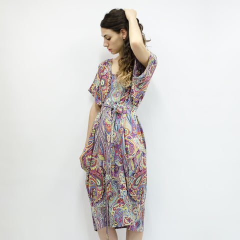 Dress Love Pocket in Viscose Paisley Colors