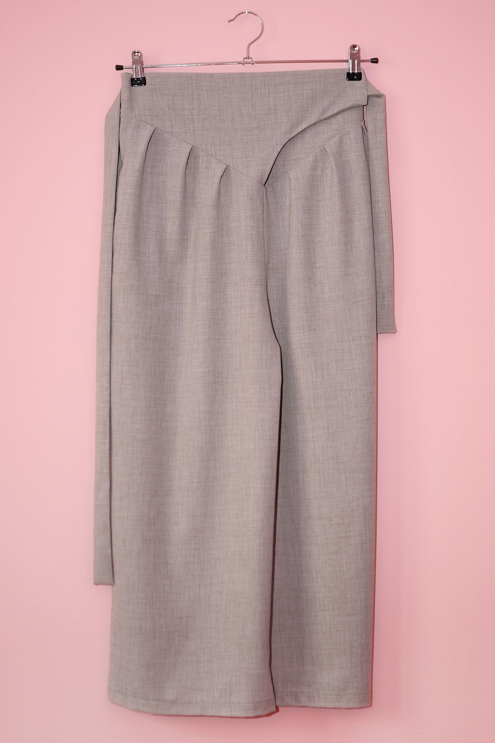 Wide Leg Trousers Tsuru in Terry Rayon