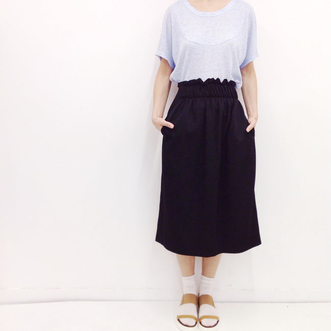 Midi Skirt Yasu in Viscose Gabardine