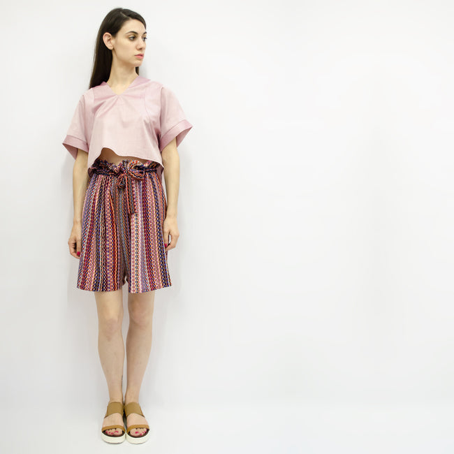 Wide Shorts Hiraku in Printed Crepe Colors