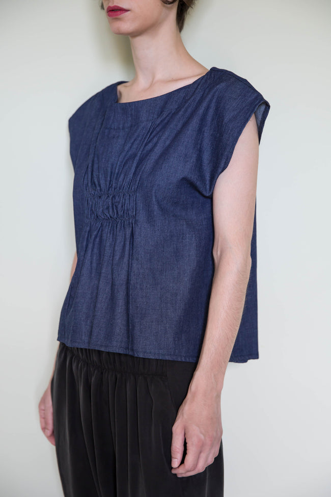 Top Ayame in Cotton Denim