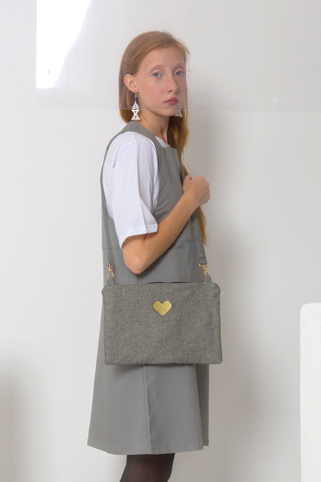 MESSENGER BAG BIG * PIXEL HEART