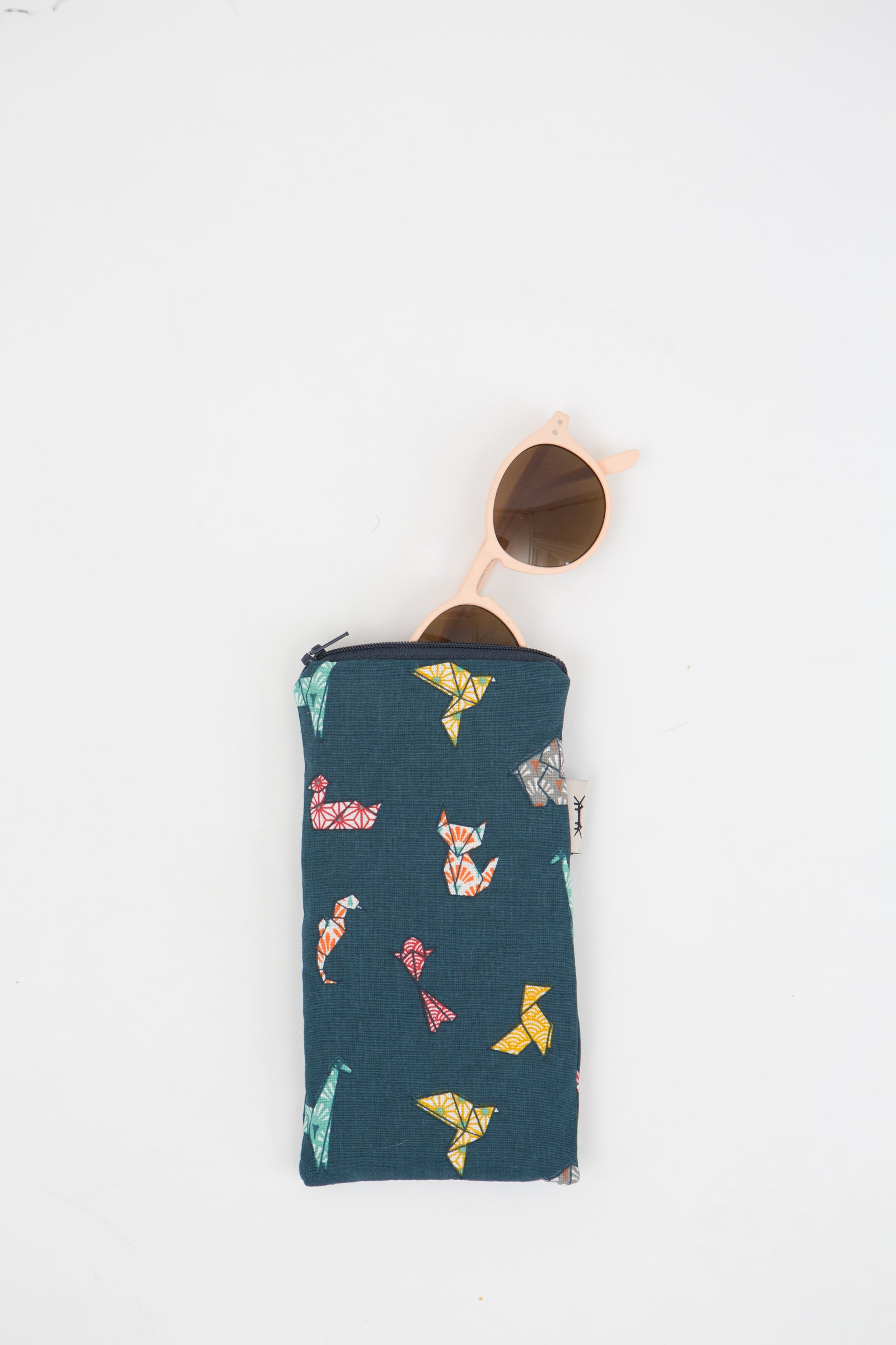 Sunglasses Pouch in Origami Animals