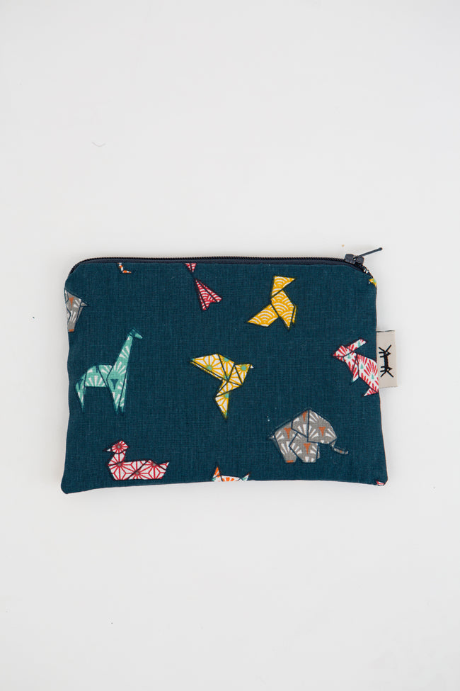 Mini Pouch in Origami Animals