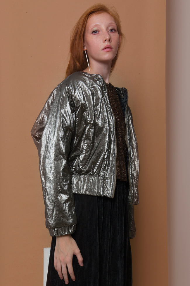 Bomber Jacket Shuko in Metal Colors