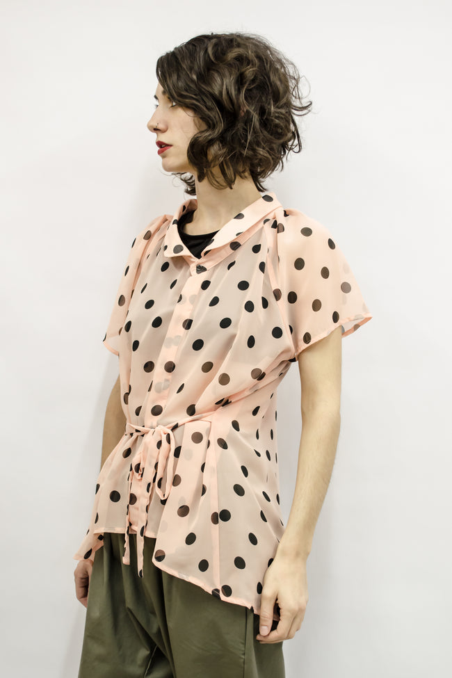 Shirt Cecile in Sheer Polka Dots Colors